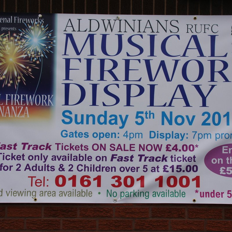 PROFESSIONAL MUSICAL FIREWORK DISPLAY- SUNDAY 5TH NOVEMBER 2017
