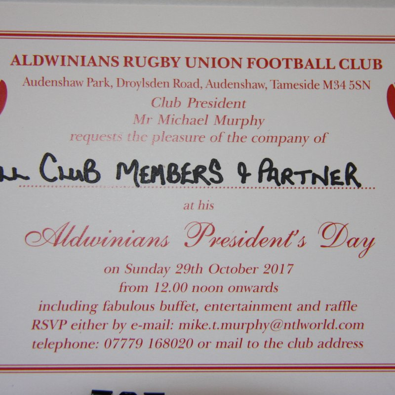 MIKE MURPHY , CLUB PRESIDENT INVITES YOU TO..................