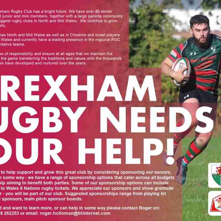 Wrexham Rugby Club Needs Your Help!