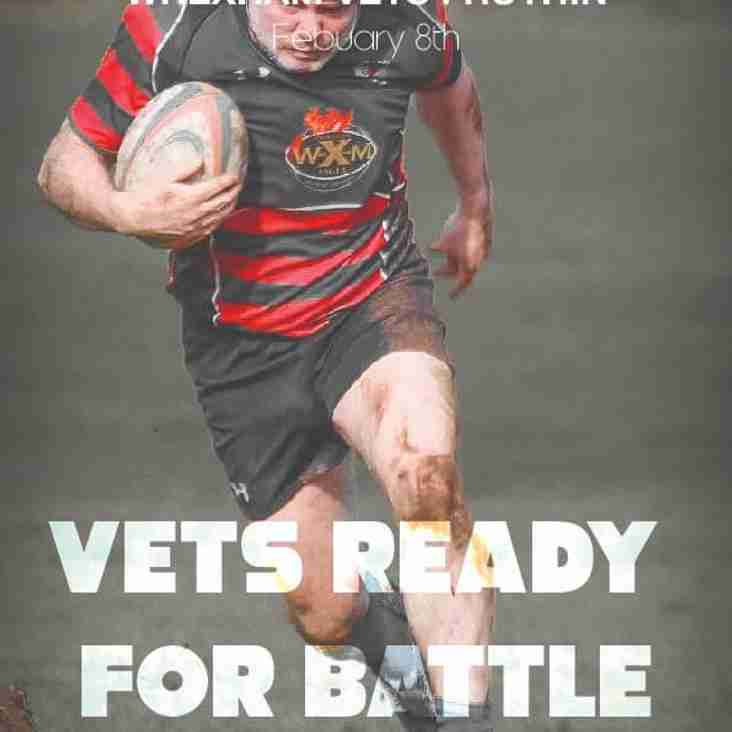 Vets Game - Friday 8th Feb @ 19:30