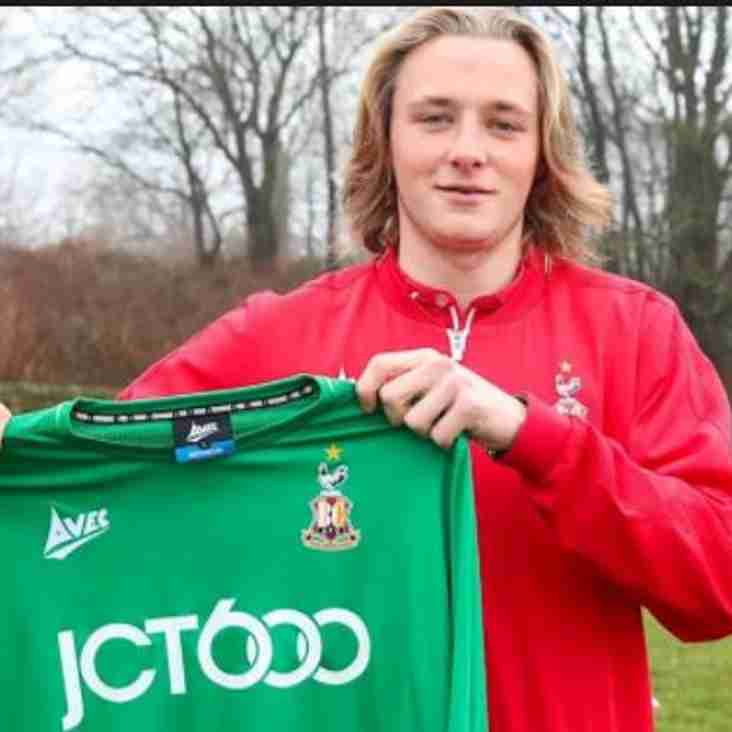 Great news as George signs for Bradford