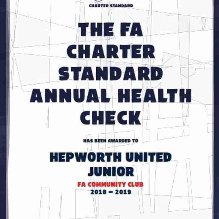 Hepworth United awarded FA Community Standard Club