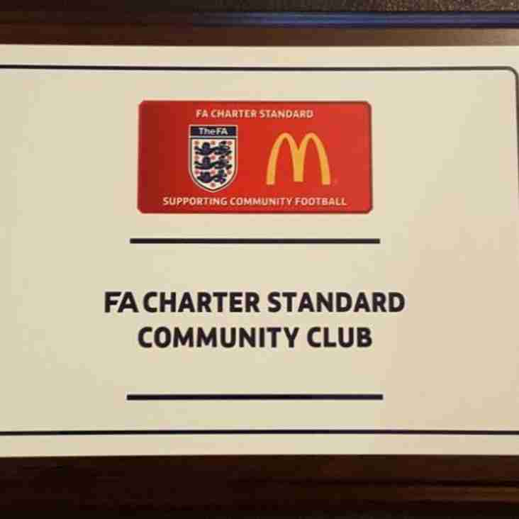 Charter Standard Community Club Status Confirmed Again by the FA