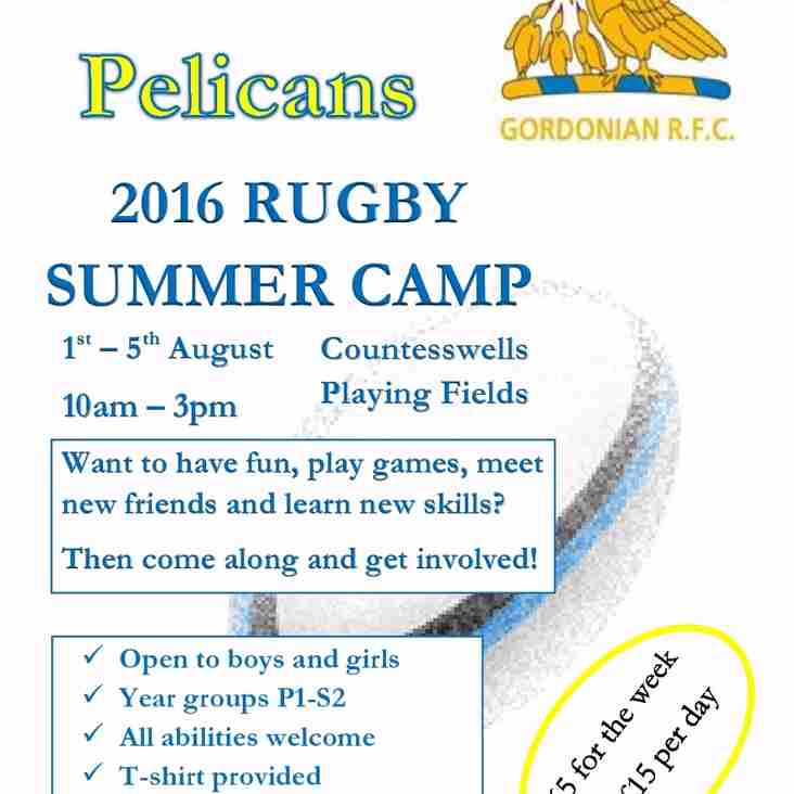 Annual Gordonian Pelicans Summer Camp