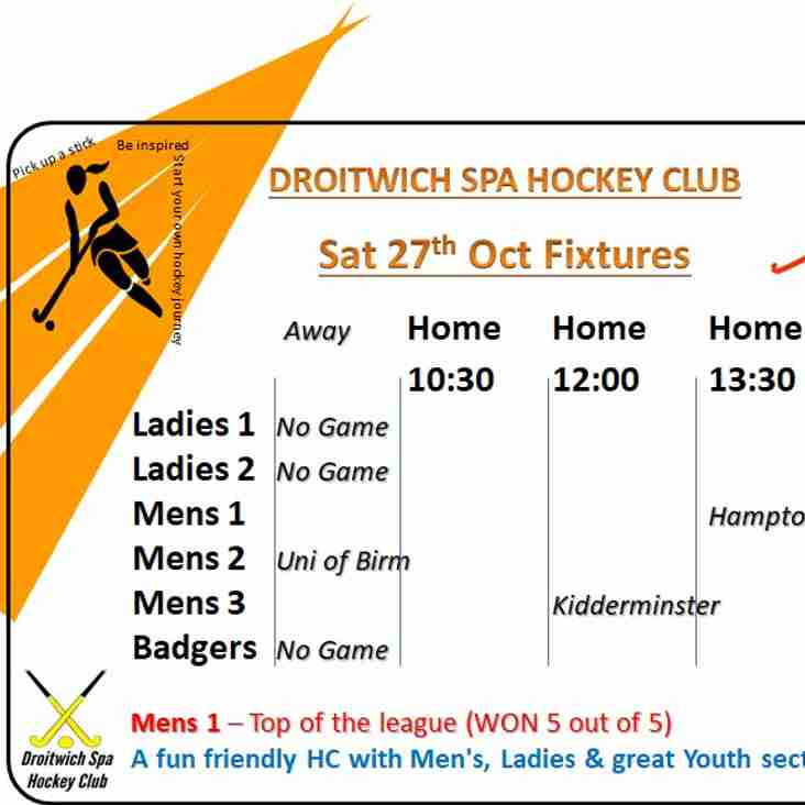 Home Games - men-only games on this chilly half-term weekend !!!