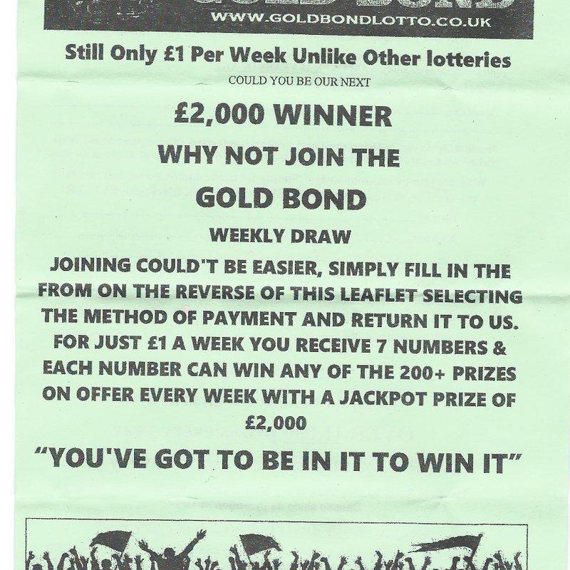 GOLD BOND  -  LOTTERY