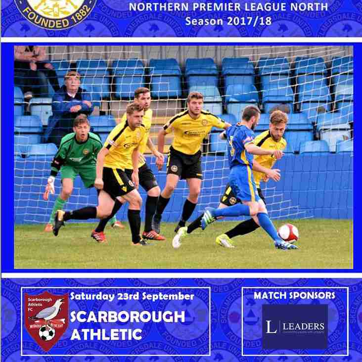 SCARBOROUGH ATHLETIC - Home Saturday 23rd September