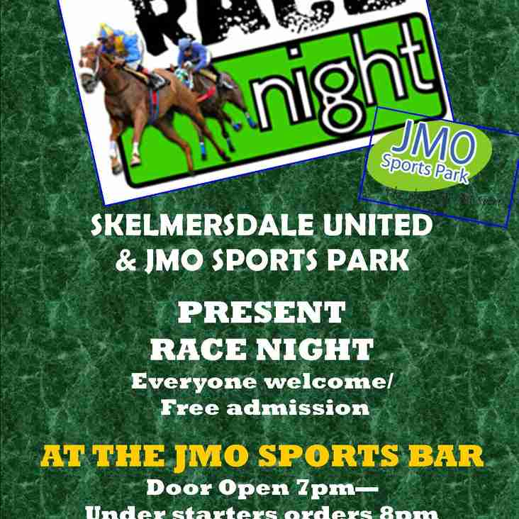 RACE NIGHT - Friday 9th November @JMO