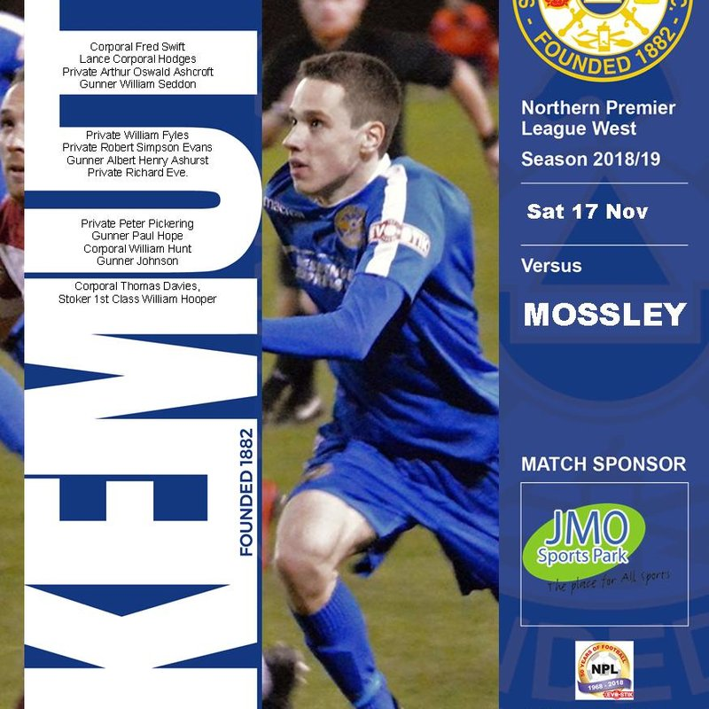 Mossley Home Saturday 17th November