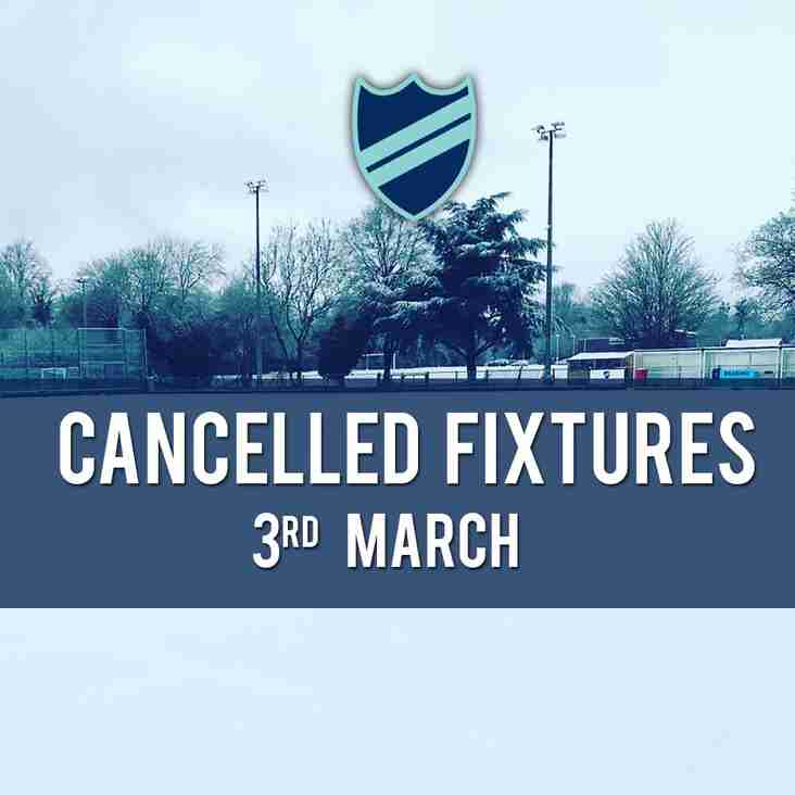 CANCELLED FIXTURES