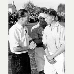 Sir Stanley Matthews with Ray Boundy