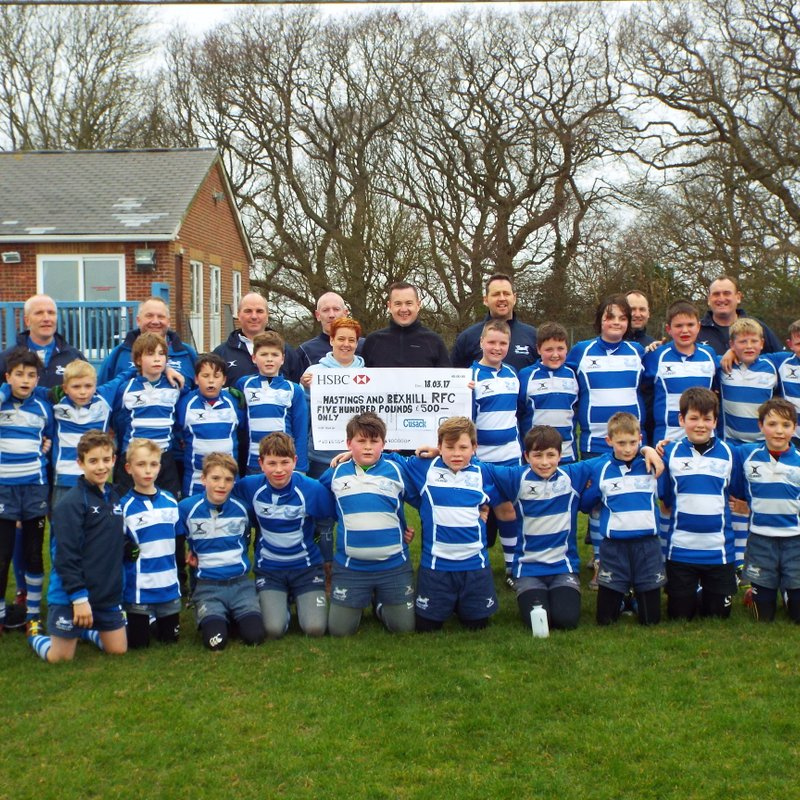 P. F. Cusack (Tool Supplies Ltd) give club cheque for £500 in memory of Harley Simpson