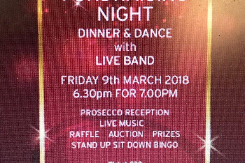 Annual M&J Dinner Dance 9th March 2018