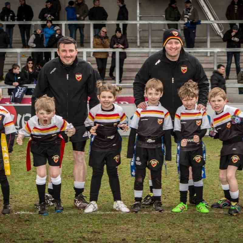 2016 Under 7's Half time tag at Sale Sharks