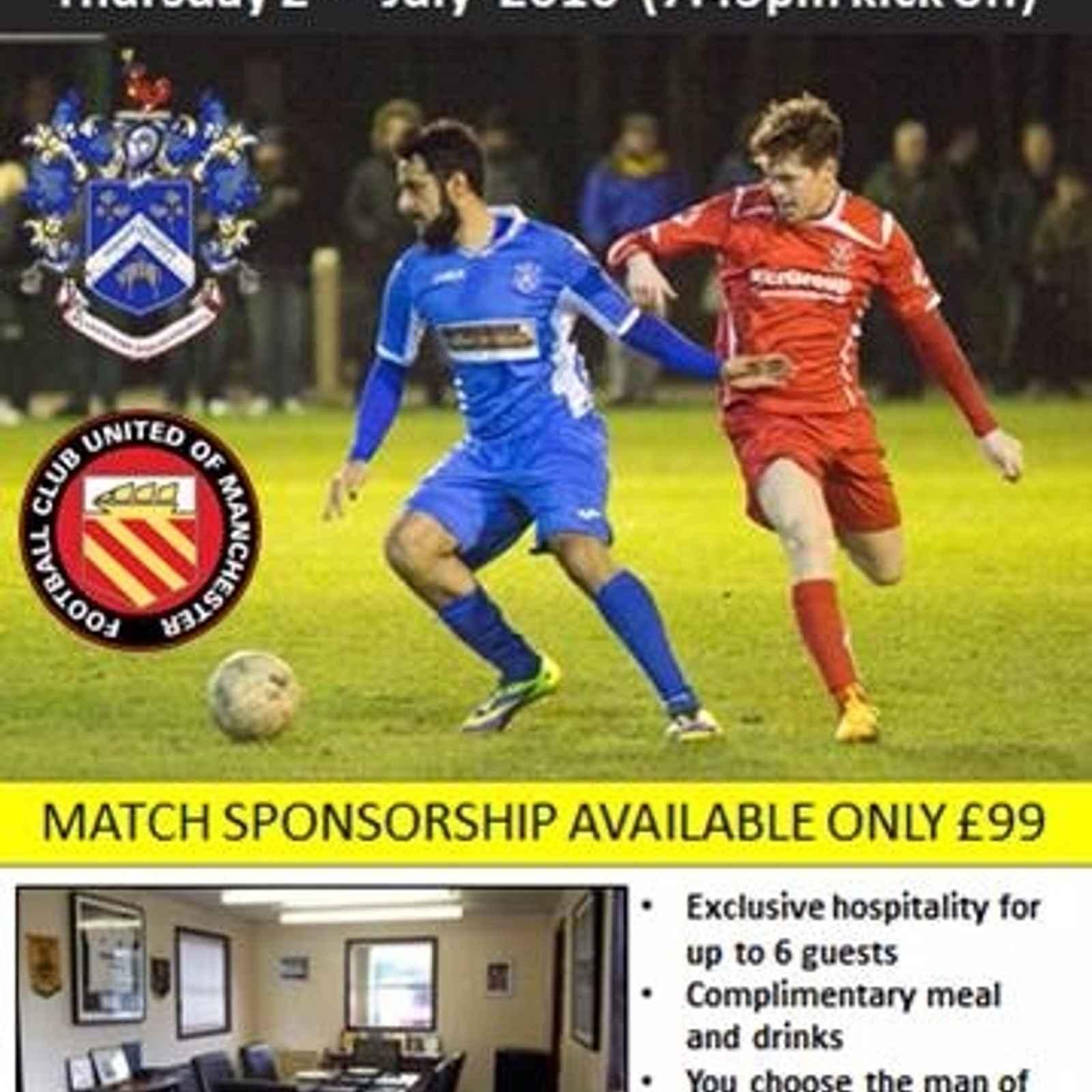 Nelson vs FCUM - Match Sponsorship Available!