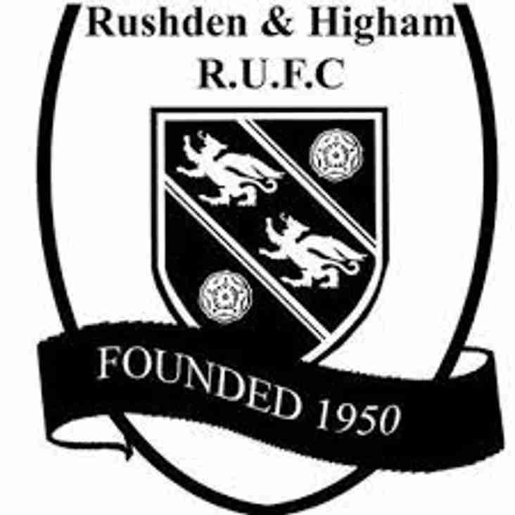 Rushden & Higham RUFC  v Sleaford RUFC