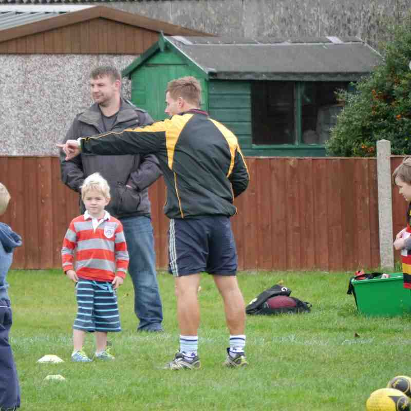 Under 6's Training 26th Oct
