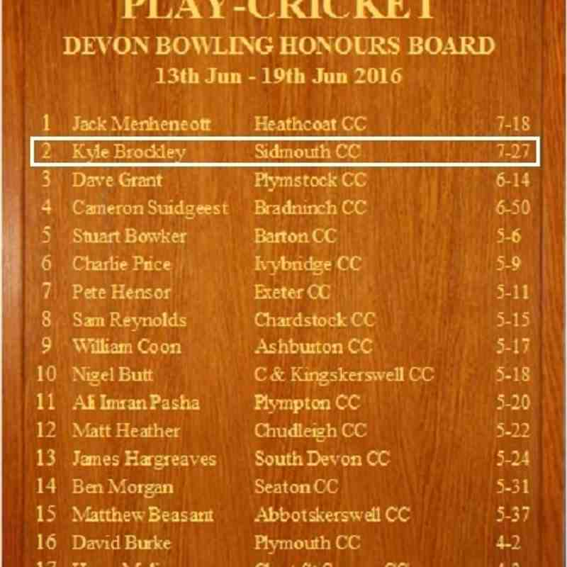 Batting & Bowling Honours Boards 2016