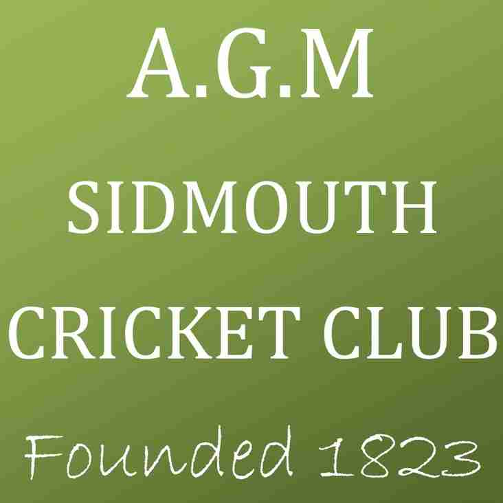 Sidmouth Cricket Club - Annual General Meeting 2017