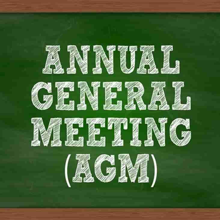Club AGM - Wednesday 5th July