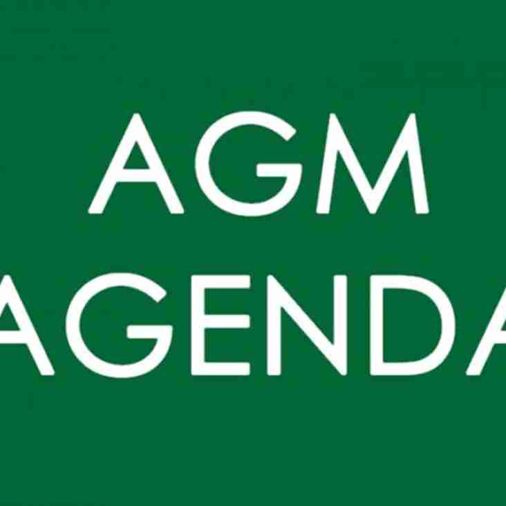 Sidmouth Cricket Section AGM Agenda