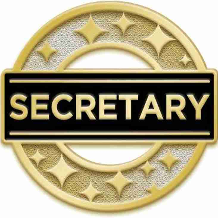 The Club are looking for a new Secretary