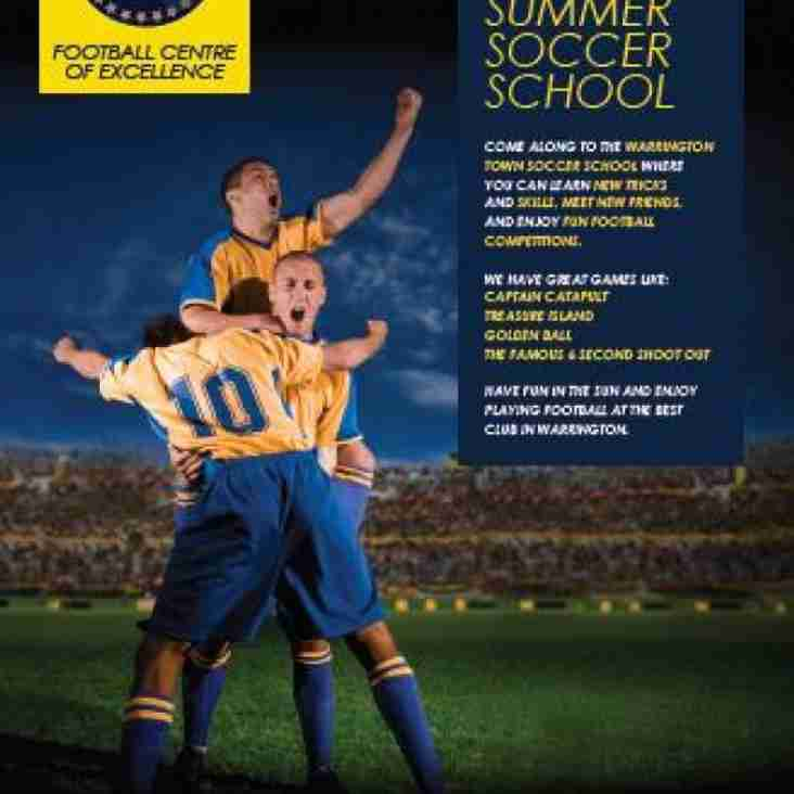 Warrington To Host Soccer Schools