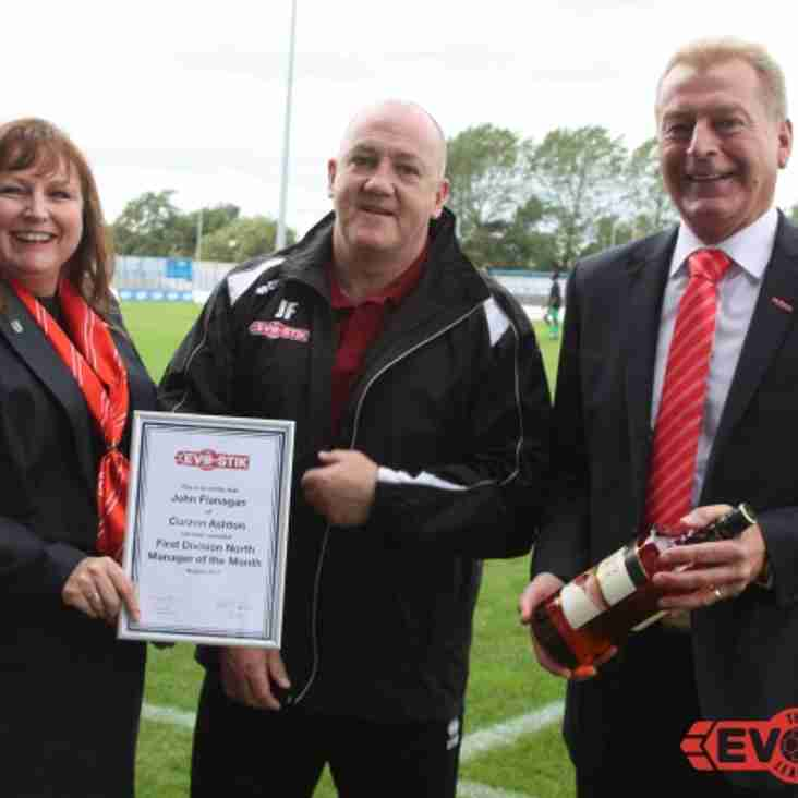 August Manager Of The Month - John Flanagan (Curzon Ashton)