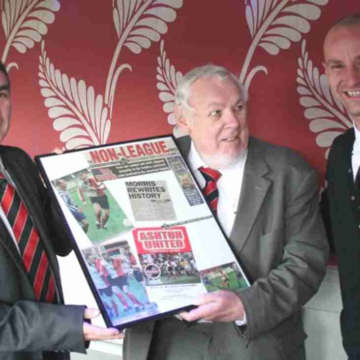Morris Honoured On Record Anniversary