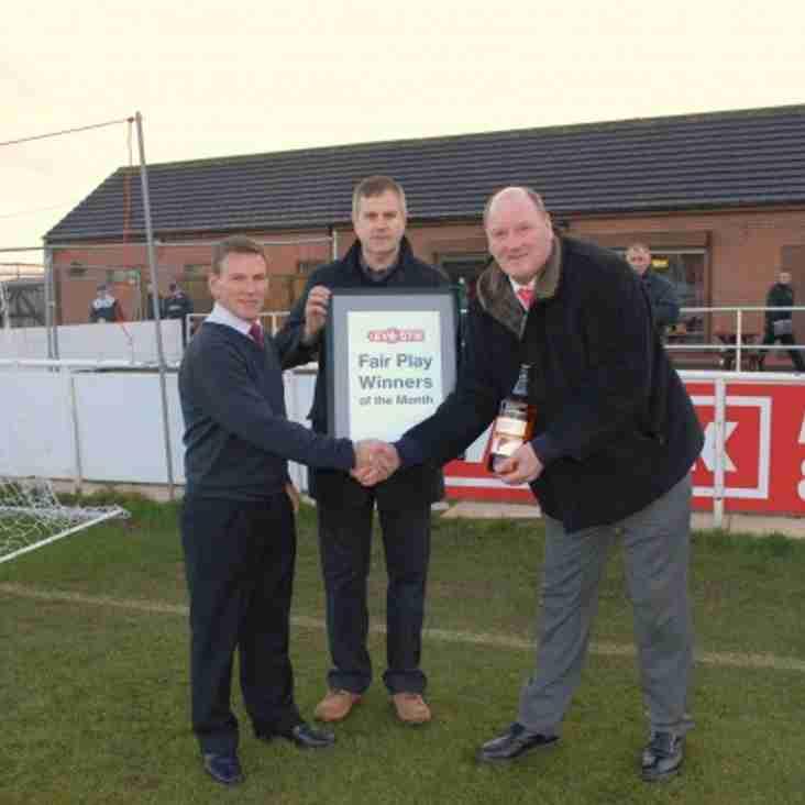 Premier Division Fair Play - November