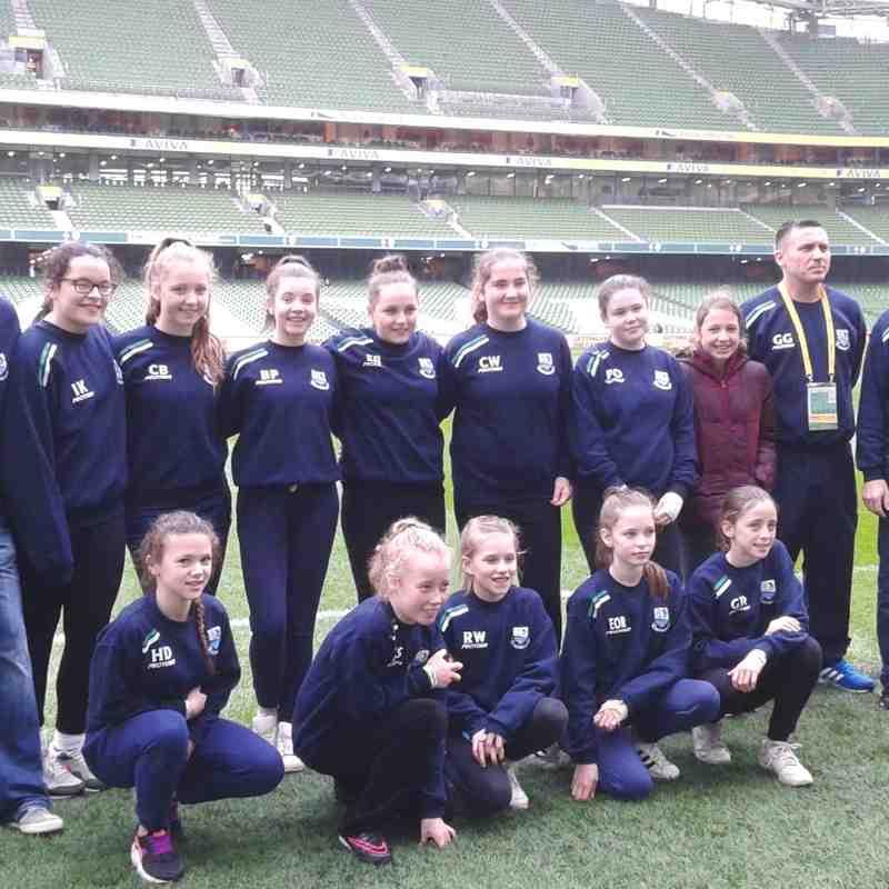 Avia Girls FAI final as ball girls