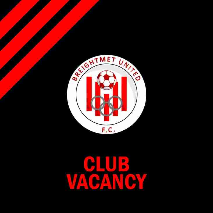 Breightmet United FC - Vacancies