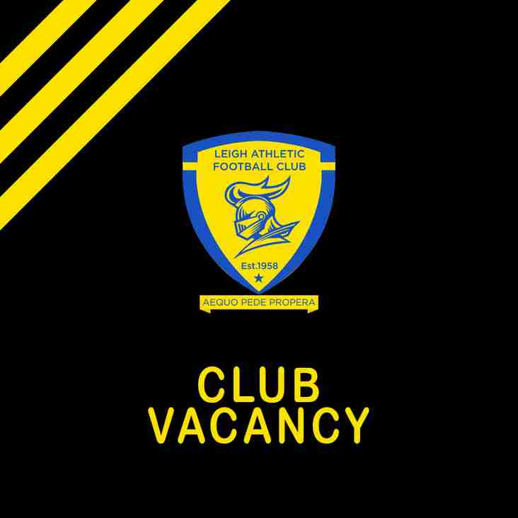 VACANCY - Leigh Athletic FC