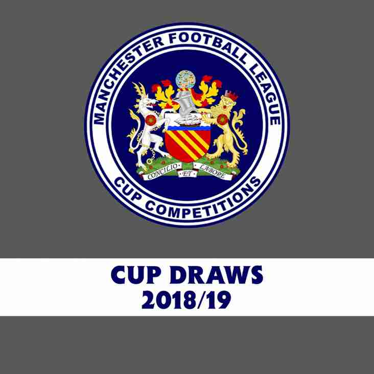 2018/19 Cup Competitions - First Round Draws