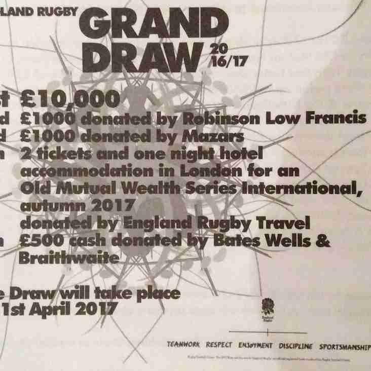 RFU Grand Draw Tickets