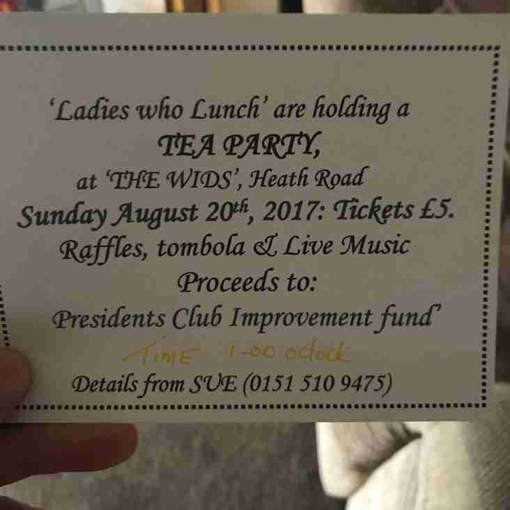 Don't forget - Mrs President's High Tea !!!!