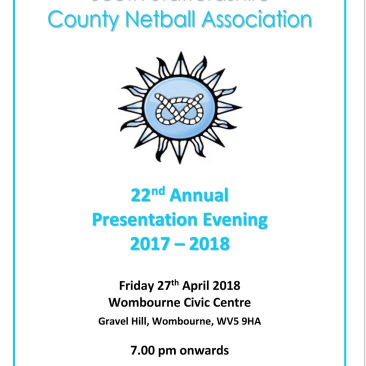 South Staffs County Netball Presentation evening <