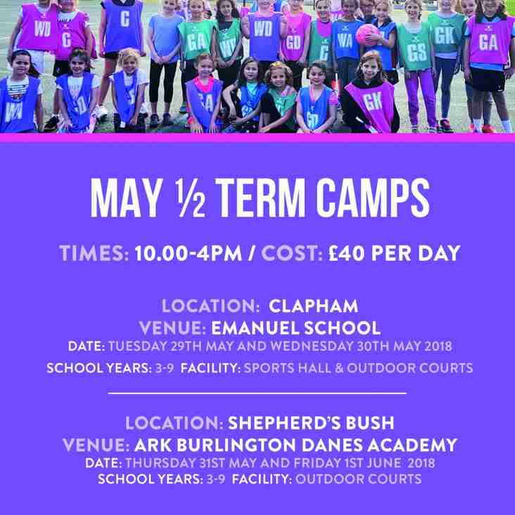 Lets Play Netball Half term camp led by Allstars Coaches