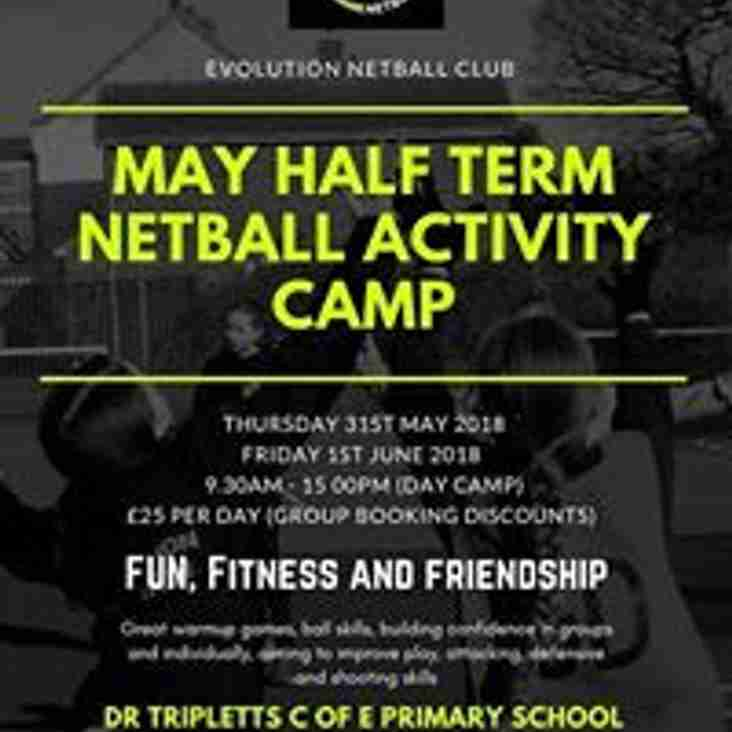 Evolution Netball club - May Half term camp