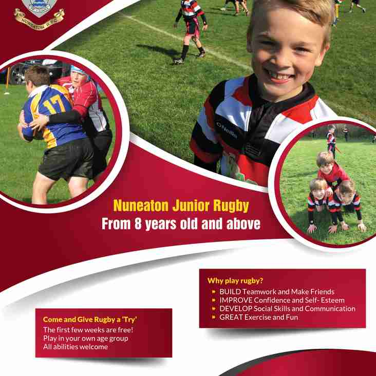Junior Rugby from 8 years old and above