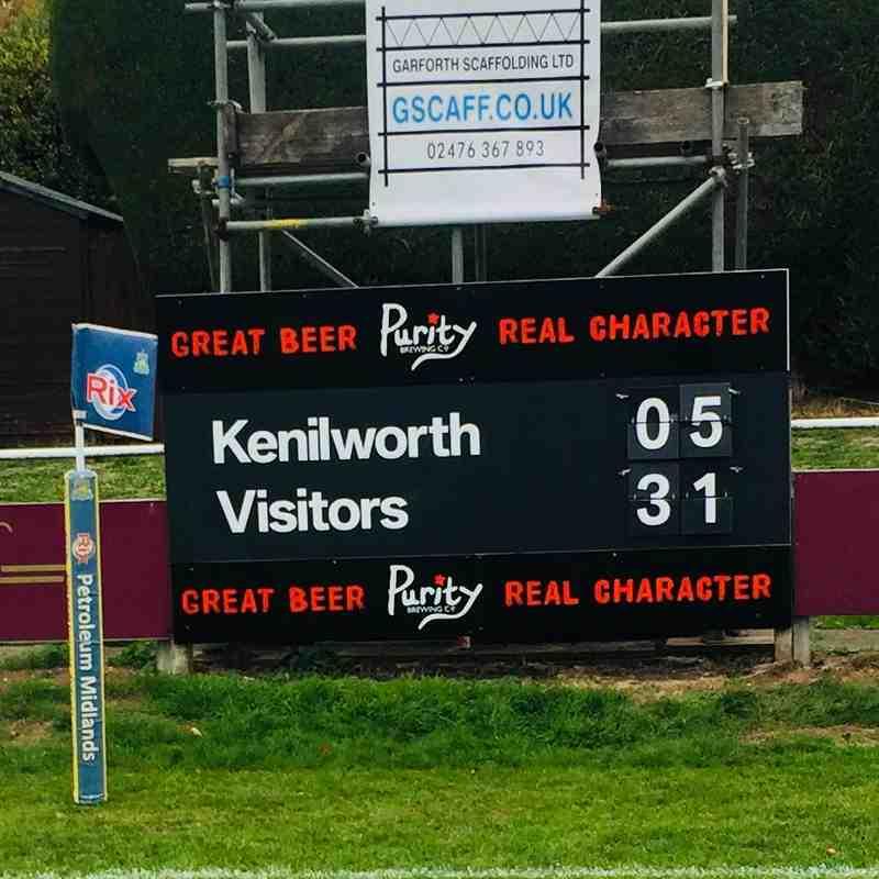 Nuneaton v's Kenilworth 30/09/2018