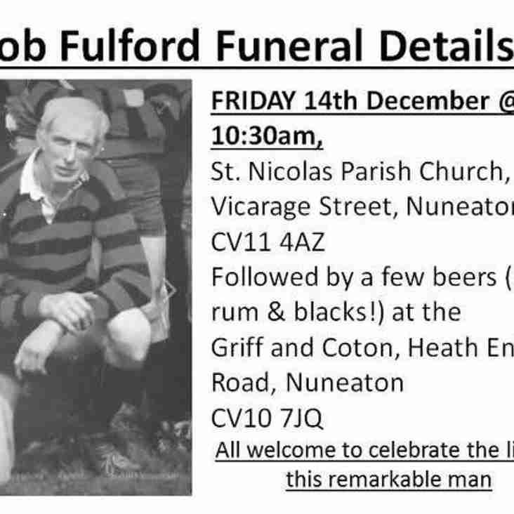 Bob Fulford Funeral Details