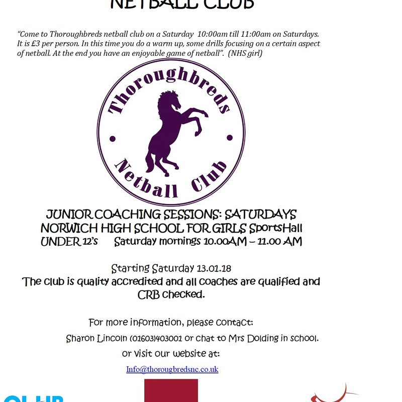Thoroughbreds Saturday Netball Club