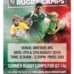 London Irish Summer Rugby Camp