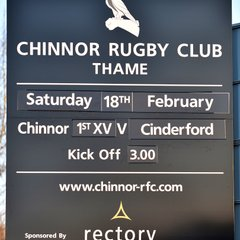 Chinnor RFC 1st XV Vs. Cinderford RFC 18/02/17