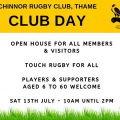 Chinnor RFC Club Day 13/07/19