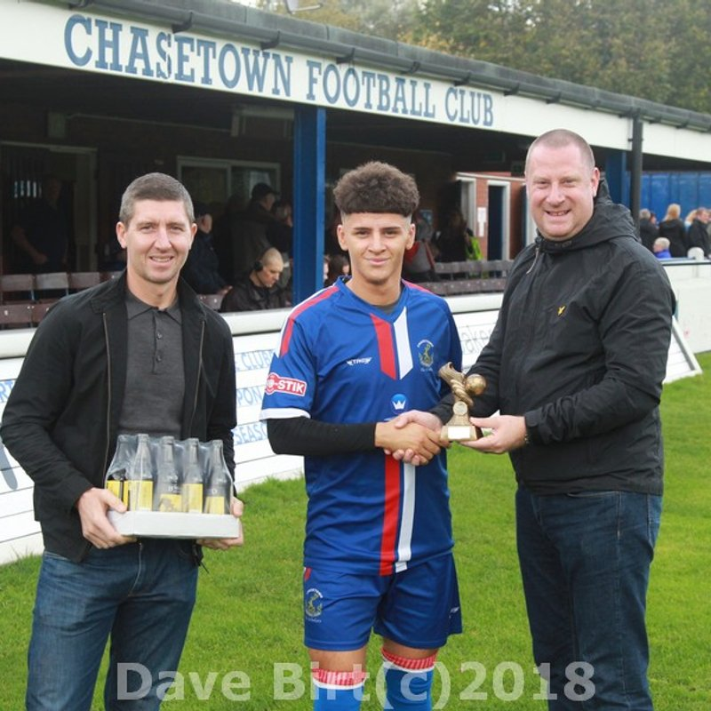 September's player of the month gets his rewards