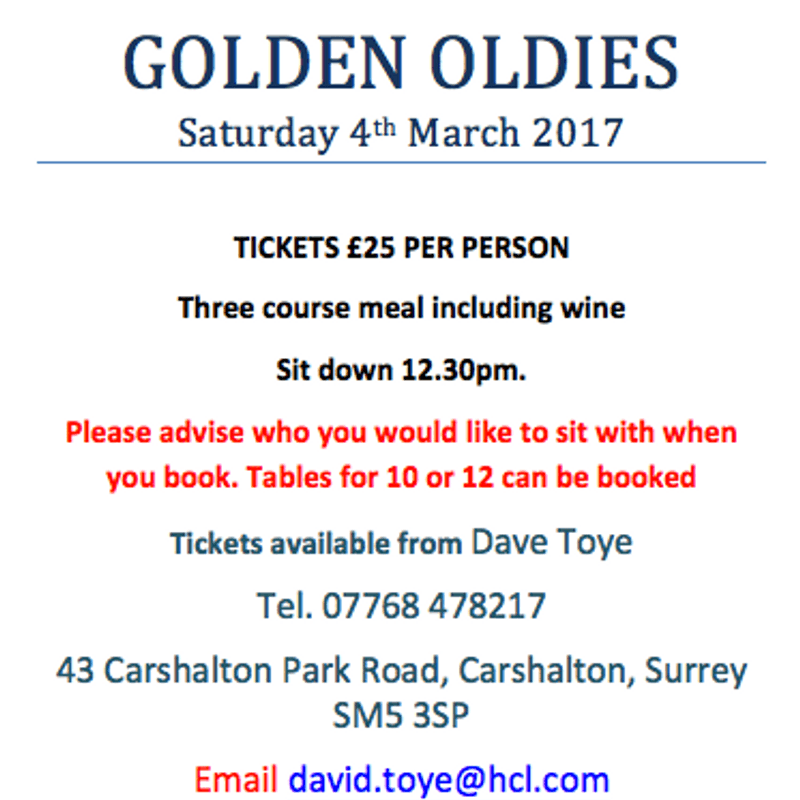 Golden Oldies 4th March