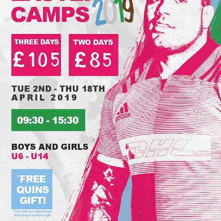 Quins Easter Camp. Book early