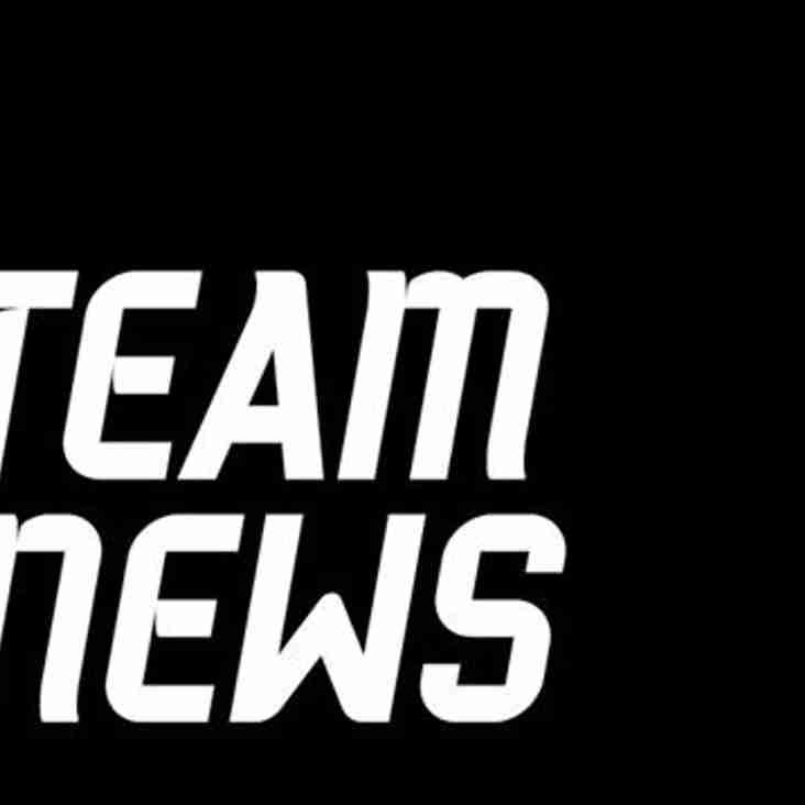 Weekend Team News